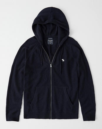e30d62b3170 Cashmere Full-Zip Hooded Sweater