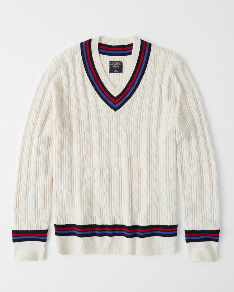 8bd5675cf79 Mens Cricket V-Neck Sweater | Mens Clearance | Abercrombie.com