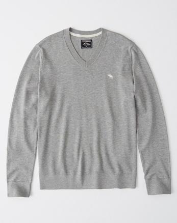 Suéteres con cuello redondo y cuello en V de hombre  29445a5411c3