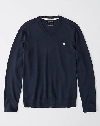 El suéter con cuello en V e icono A F 671383df900