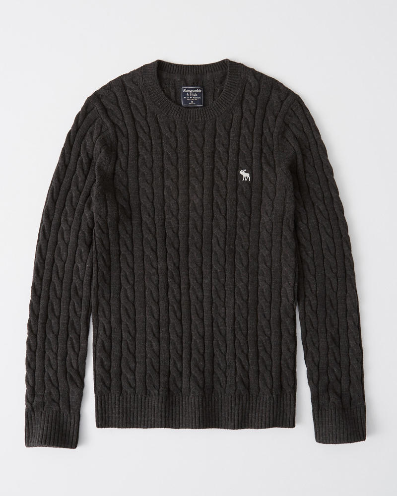 Icon Cable Knit Sweater by Abercrombie & Fitch