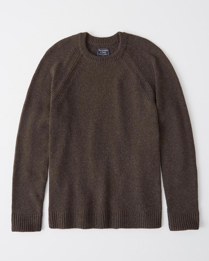 9e7430cefbbec9 Mens Classic Merino Wool Blend Sweater