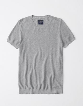 e14da19f3be6 Pima Cotton Textured Knit Tee, GREY