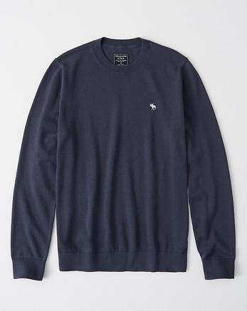 Suéter con cuello redondo e icono 88673fed05f9c