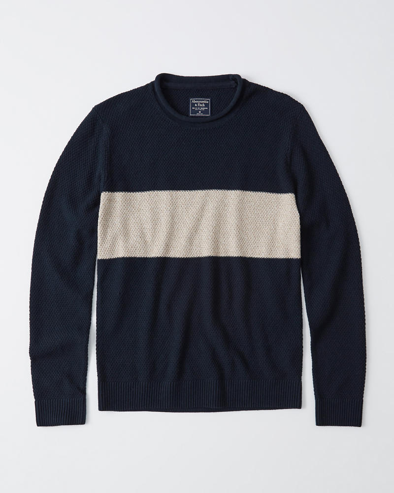 official supplier pretty cool popular stores Mens Rollneck Crew Sweater   Mens Tops   Abercrombie.com
