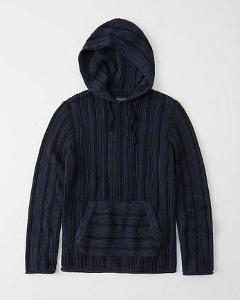 ANFTextured Hooded Sweater