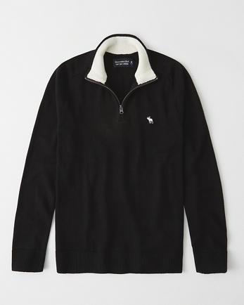 ANFIcon Cotton Cashmere Quarter-Zip Sweater