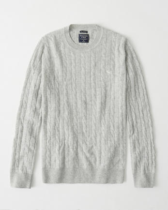 ANFCashmere Icon Cable Crew Sweater