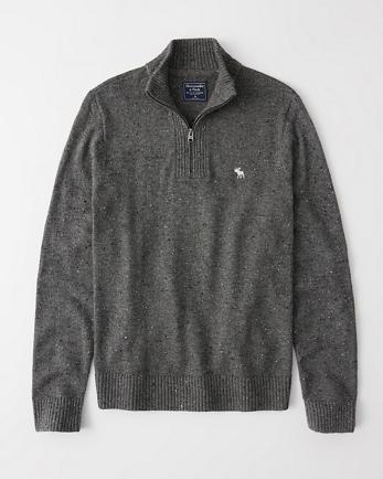 ANFHalf-Zip Icon Sweater