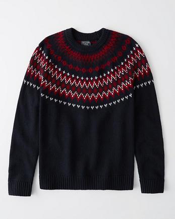 ANFFair Isle Crewneck Sweater