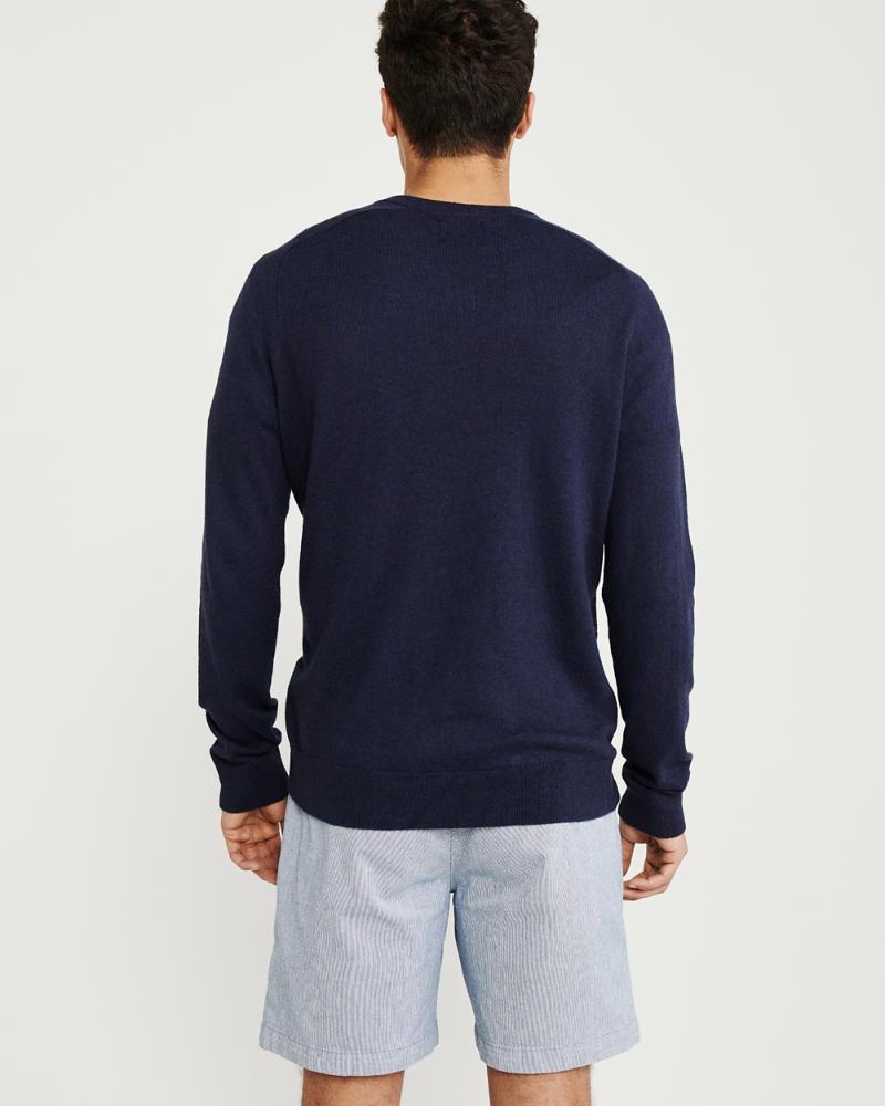 Mens The A&F Cotton Cashmere V-Neck | Mens Tops