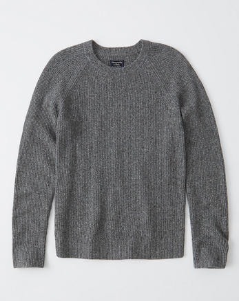 ab8e6c30 Textured Donegal Crew Sweater, GREY