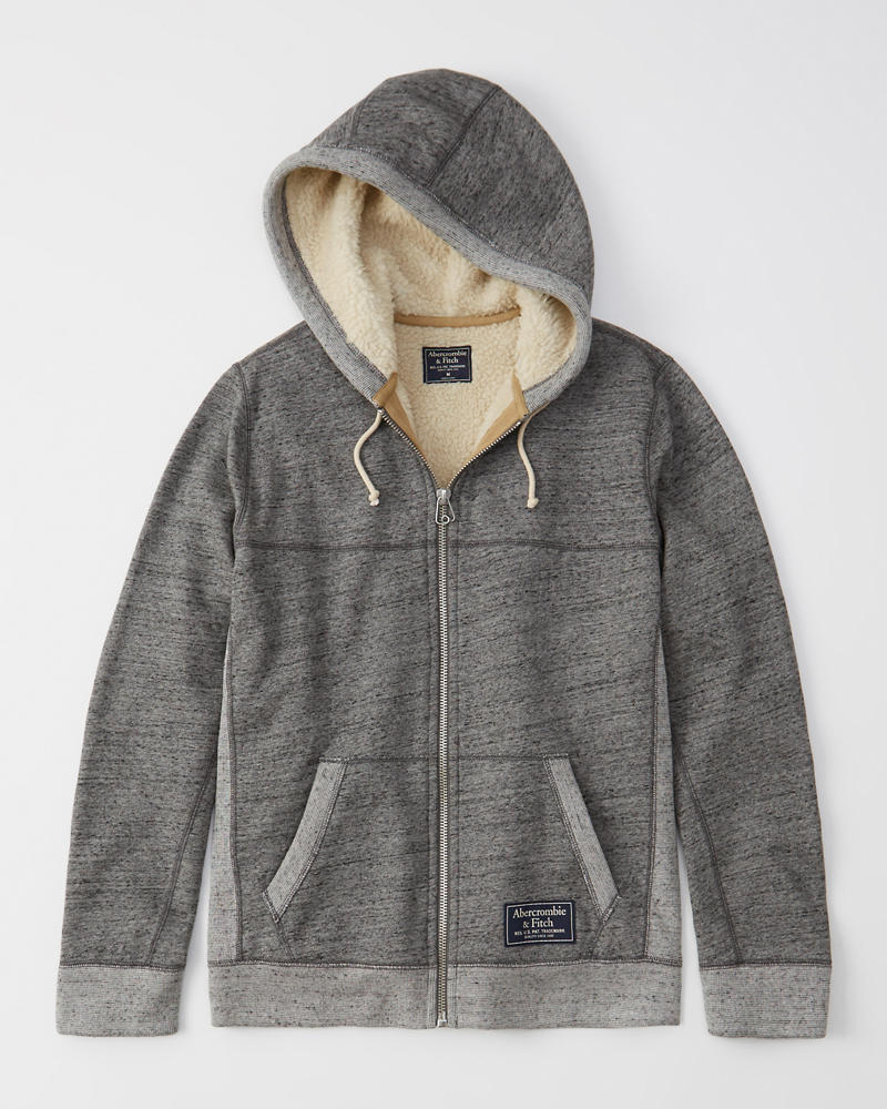 Mens Sherpa Lined Full Zip Jacket Mens Clearance Abercrombieca