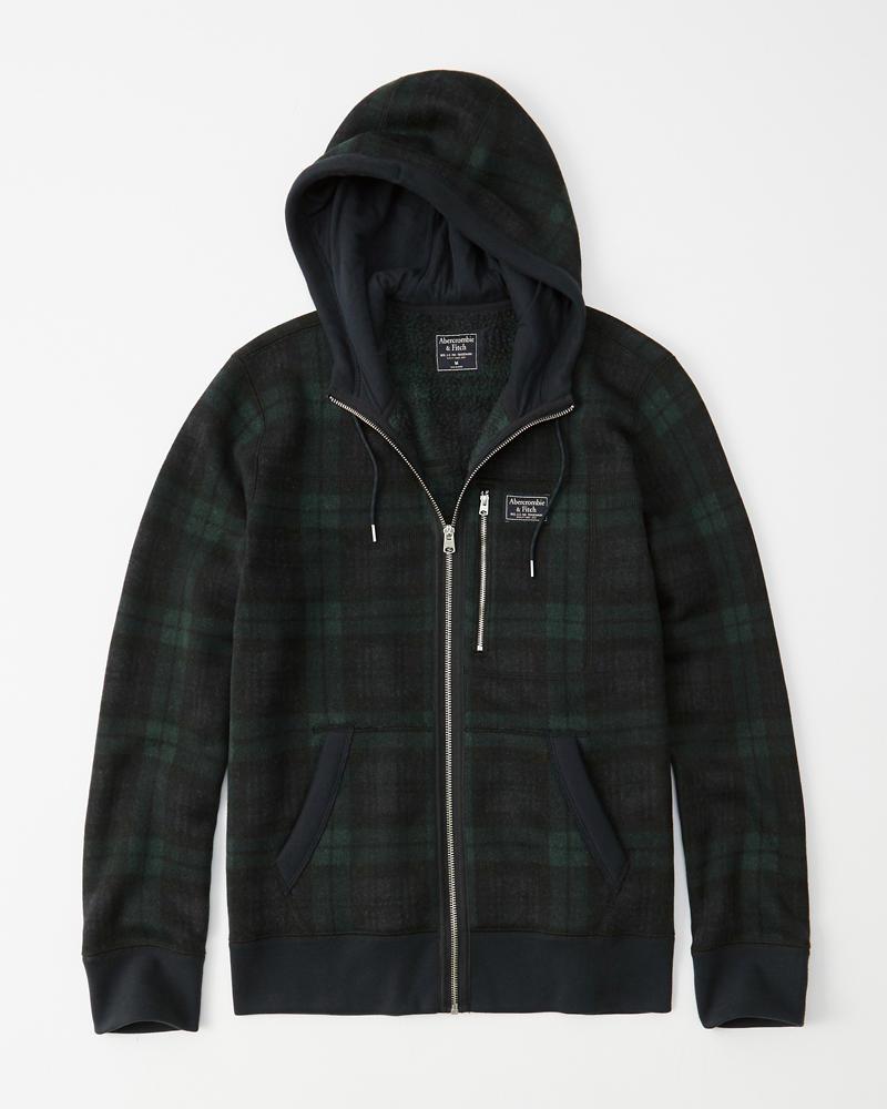 d08d21850 Mens Sweater Fleece Full-Zip Hoodie | Mens Clearance | Abercrombie.com