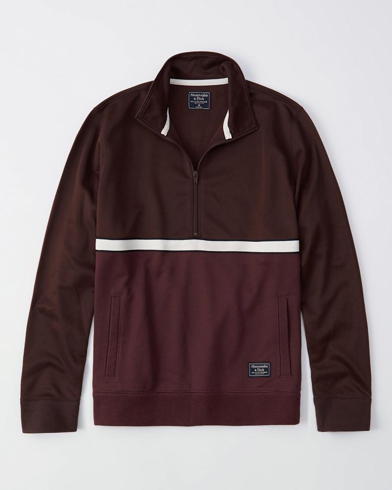 253f91850e8 Mens Colorblock Half-Zip Track Jacket