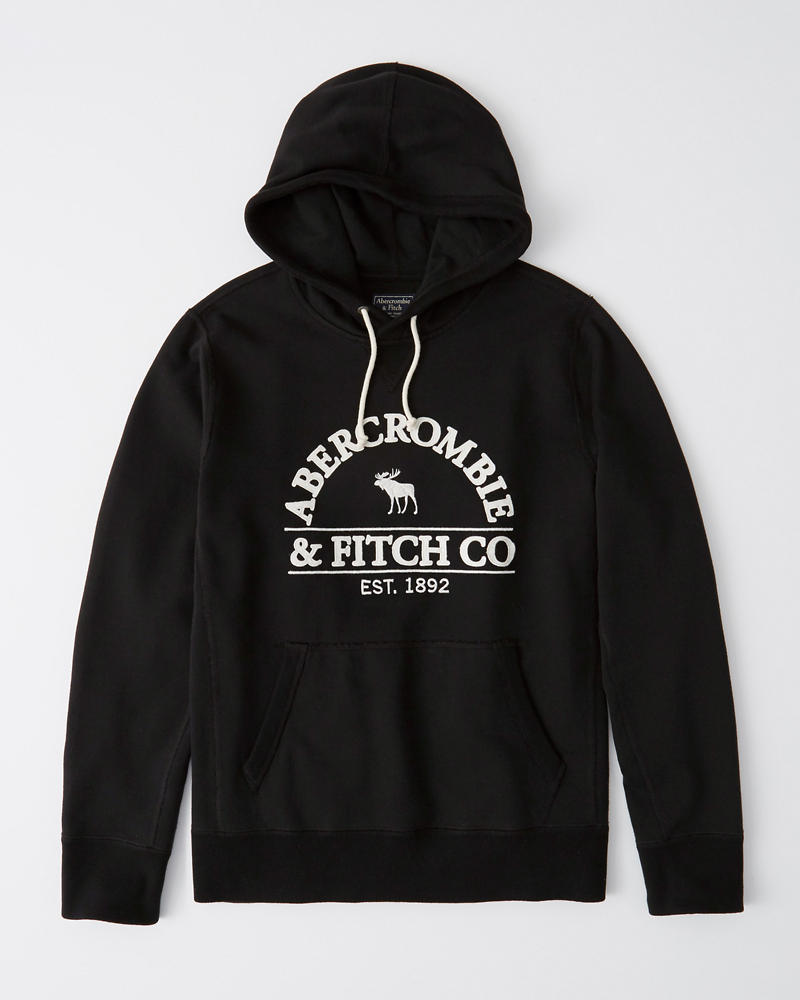 Heavyweight Logo Hoodie by Abercrombie & Fitch