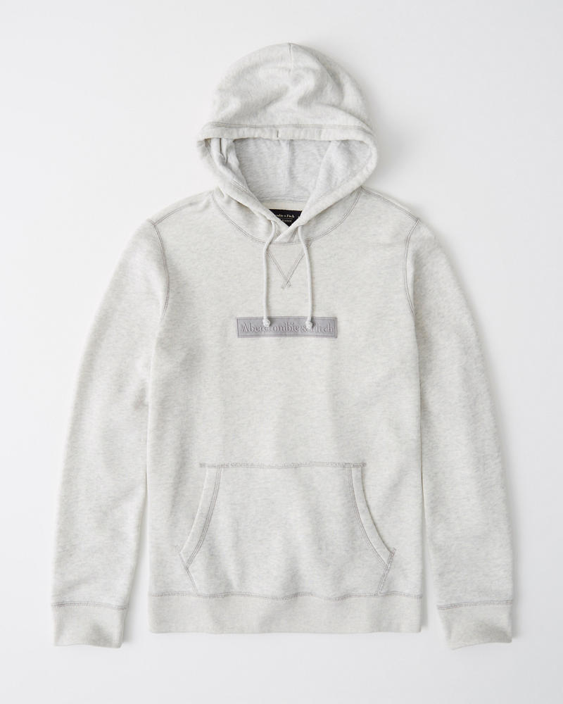 4a1ebf334 Mens Embroidered Logo Hoodie | Mens Tops | Abercrombie.com