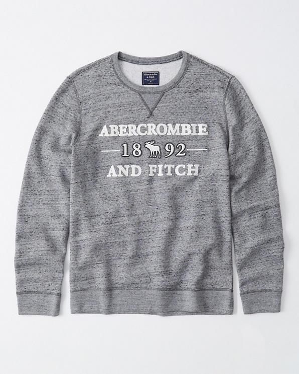Herren Sweatshirt mit Rundhalsausschnitt, Grafik und Logo