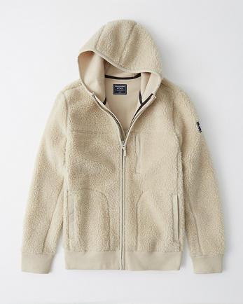 ANFSherpa Full-Zip Hooded Jacket