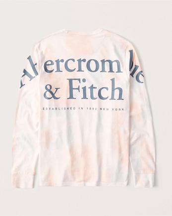 ANFTie-Dye Long-Sleeve Exploded Logo Tee