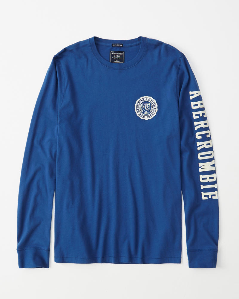 Long Sleeve Applique Legacy Tee by Abercrombie & Fitch