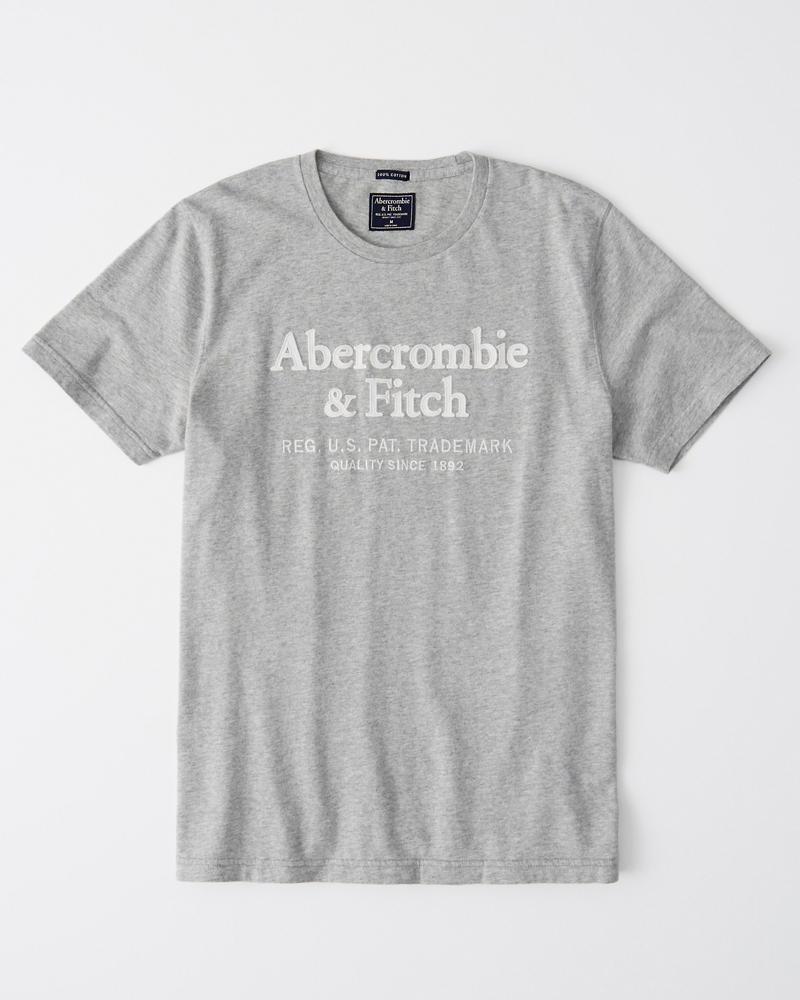 305f06c0d37 Mens Short-Sleeve Applique Logo Tee
