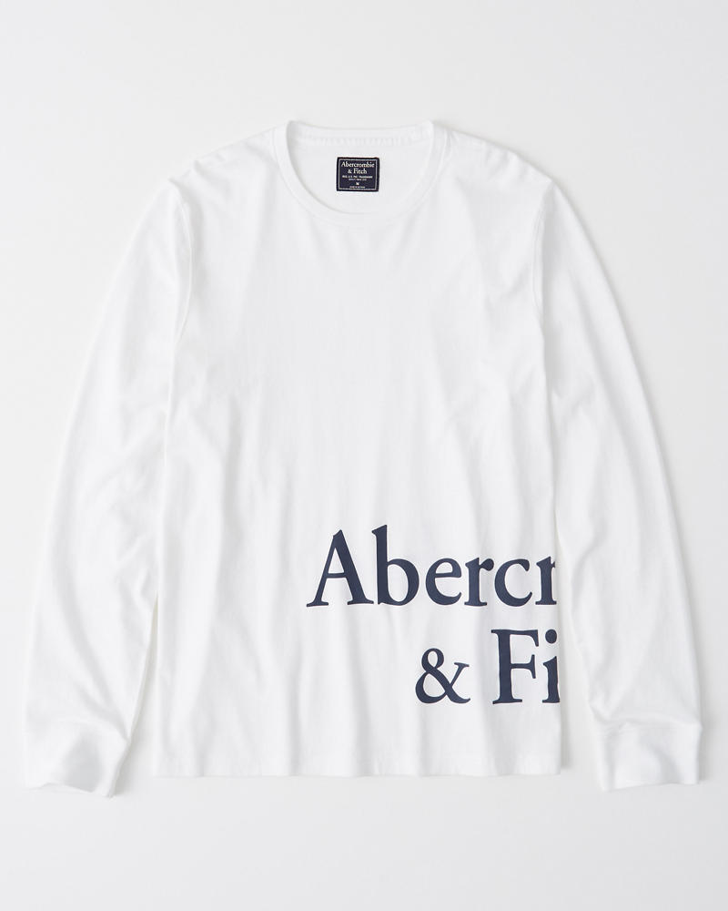bbe04a3d7 Mens Print Logo Long-Sleeve Tee | Mens Clearance | Abercrombie.com