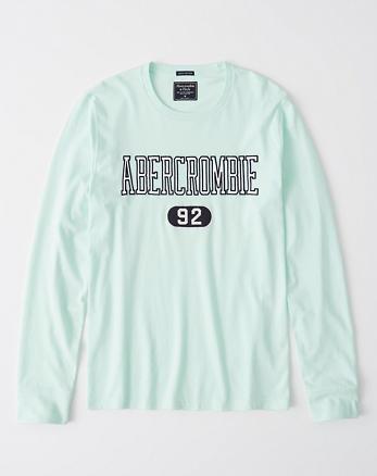 11cd200e4c8fa T-shirt à manches longues et logo appliqué