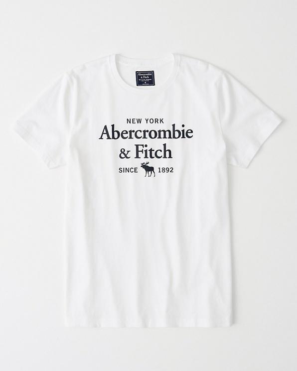 766b5c1e3a30 Mens Short-Sleeve Print Logo Tee | Mens Clearance | Abercrombie.com