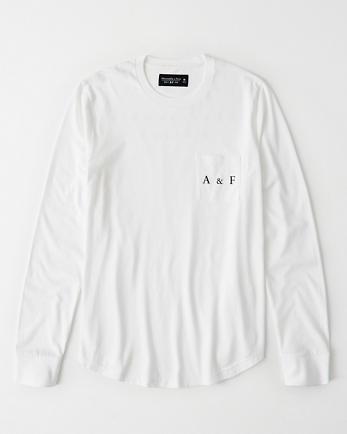 ANFLong-Sleeve Pocket Logo Tee
