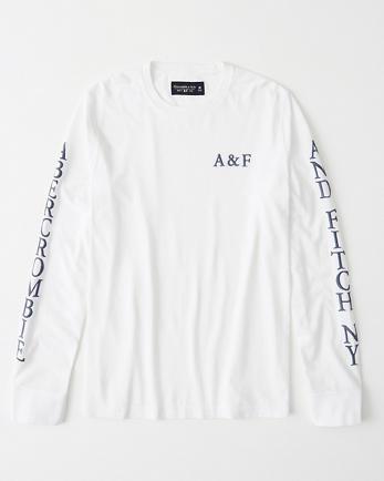 ANFApplique Logo Long-Sleeve Tee