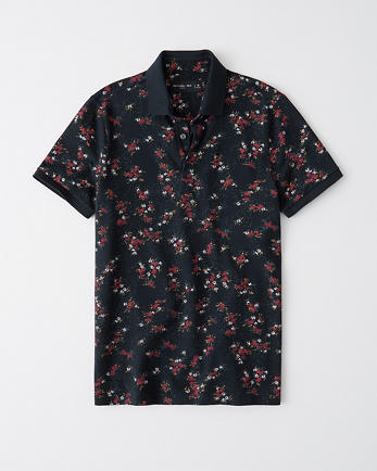 ANFPattern Stretch Polo