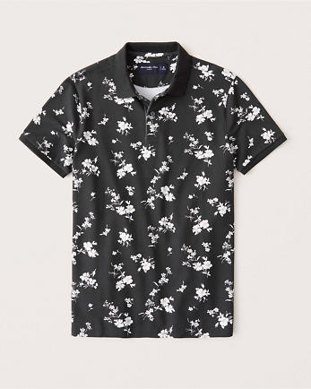 ANFFloral Stretch Polo