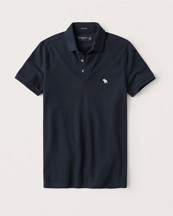 ANFSuper Slim Icon Stretch Polo
