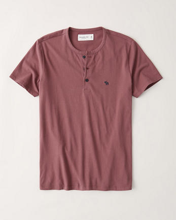 ANFShort-Sleeve Icon Henley