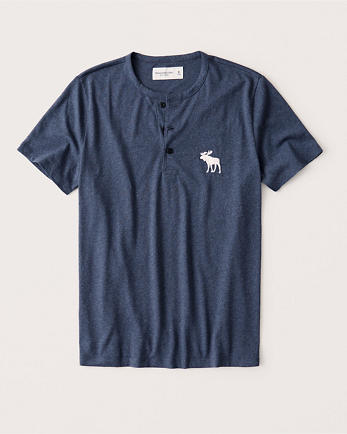 ANFShort-Sleeve Exploded Icon Henley