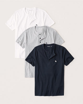 ANF3-Pack Short-Sleeve Icon Henley