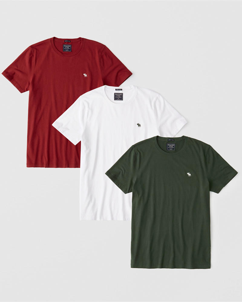 3 Pack Icon Holiday Crew Tee by Abercrombie & Fitch