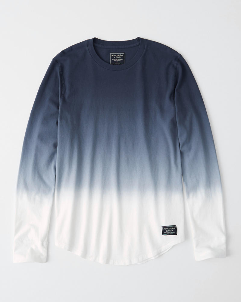 Washed Curved Hem Tee by Abercrombie & Fitch