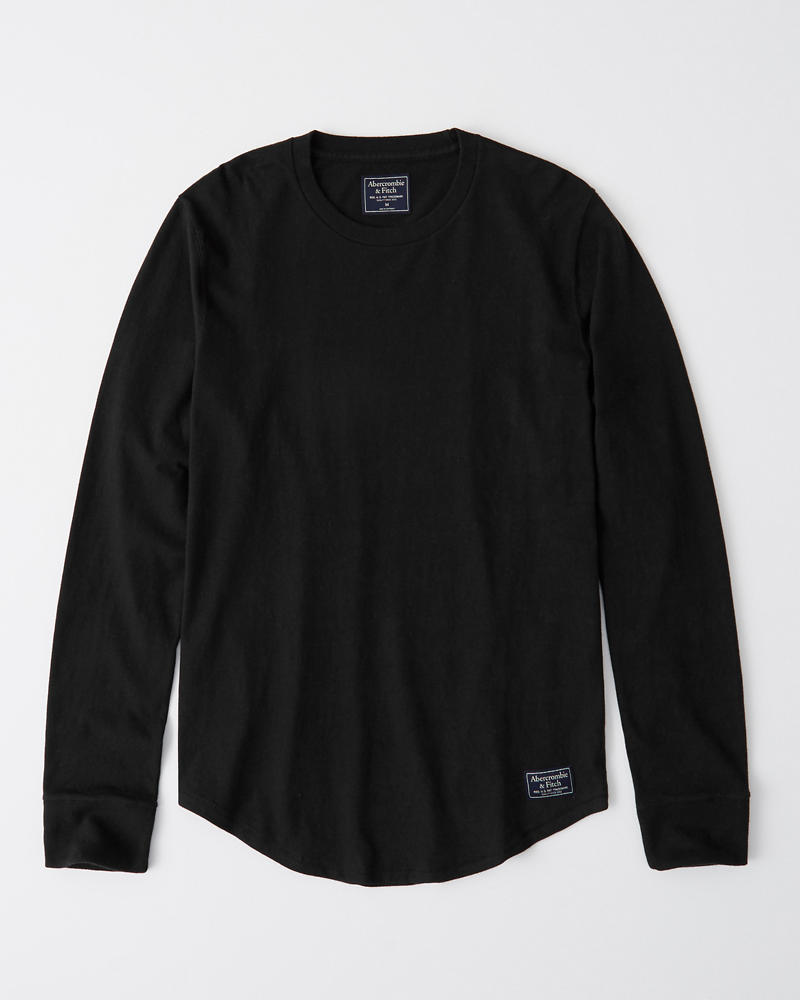 Long Sleeve Curved Hem Tee by Abercrombie & Fitch