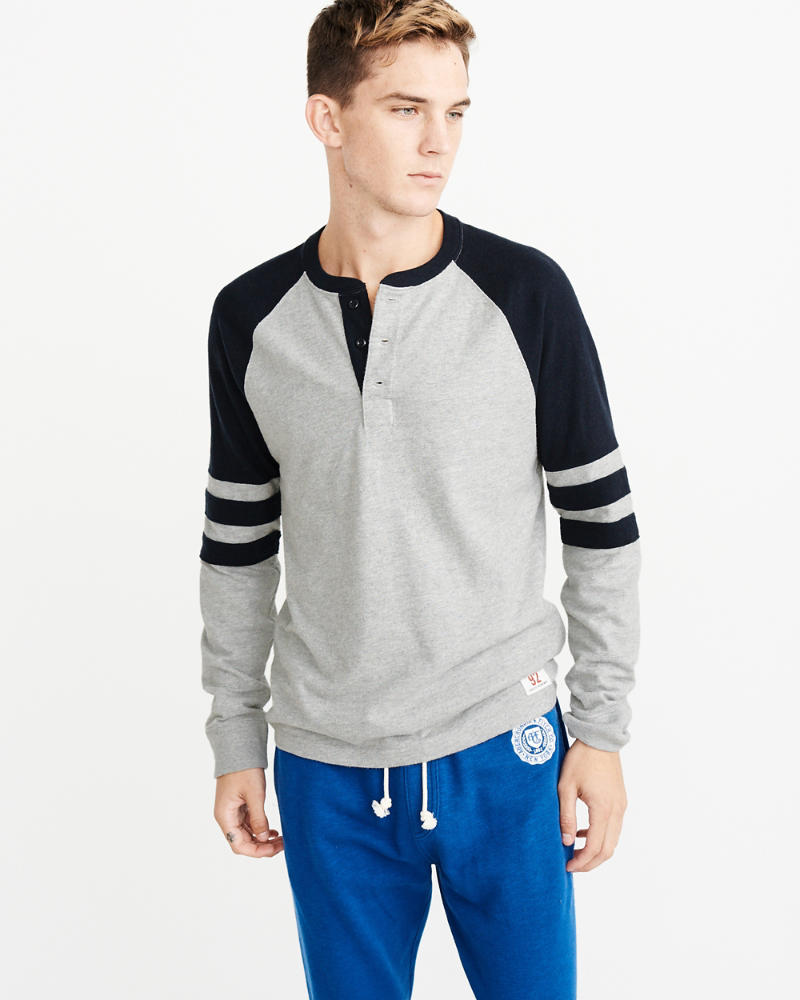 Varsity Arm Bar Henley by Abercrombie & Fitch