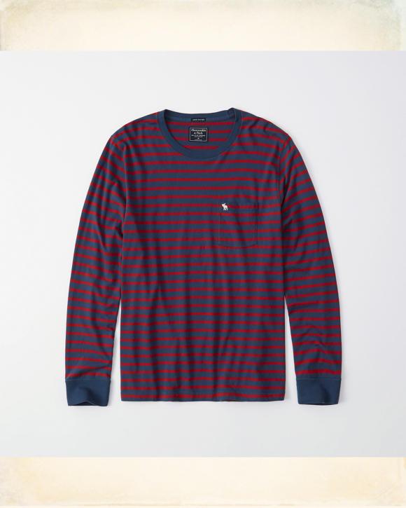 Long-Sleeve Striped Icon Tee | HollisterCo com