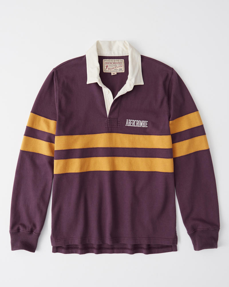 363fde212f2 Long-Sleeve Rugby Polo | Abercrombie.co.jp