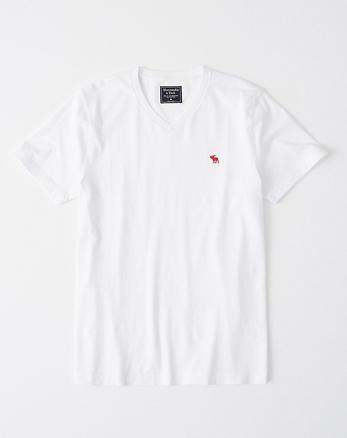 Camiseta de manga corta con cuello en V e icono f244afc29ae