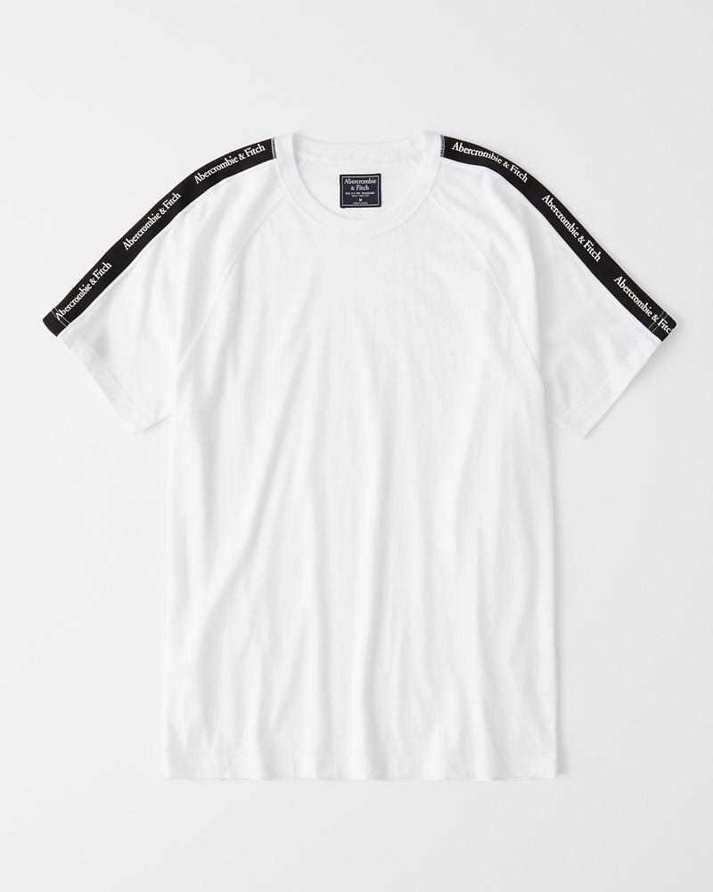 92d25f3a4a5cc1 Heren T-shirt met logobies | Heren A&F logo shop | Abercrombie.com