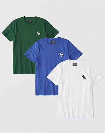 15a6805042 Pack de 3 de camisetas de cuello redondo con icono grade