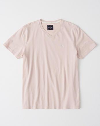 2d306d08a801d Camiseta de manga corta con cuello en V e icono