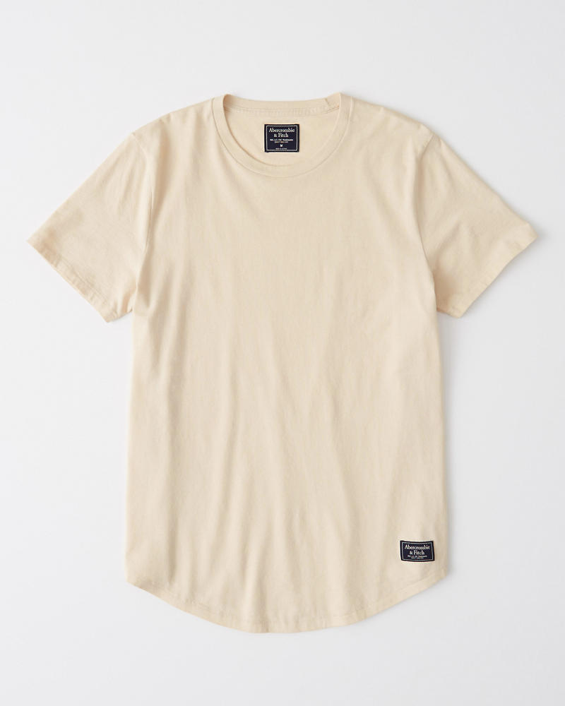 Curved Hem Crewneck Tee by Abercrombie & Fitch
