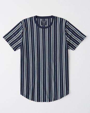 ff9dd04817a1e3 Striped Curved-Hem Tee