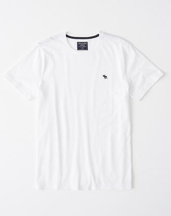 391d9ded Icon Crewneck Tee, WHITE WITH BLACK
